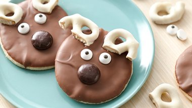 Cute Reindeer Cookies