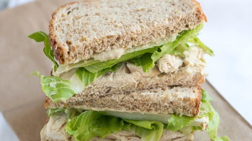 Chicken Sandwich with White Bean and Pesto Spread