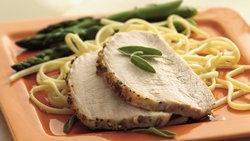 Grilled Garlic-Sage Pork Roast