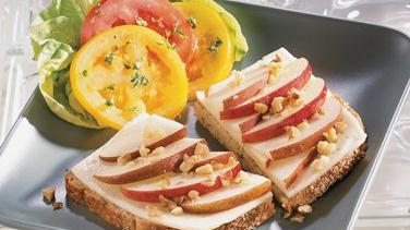 Fruit and Cheese Sandwiches