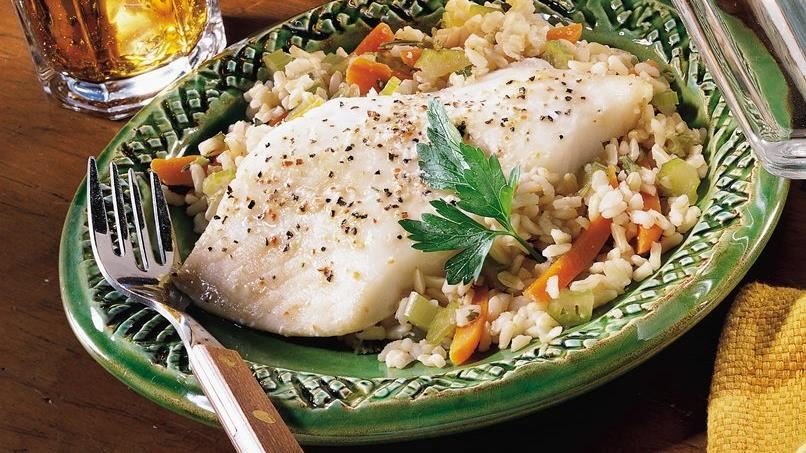 Skillet Fish and Vegetables