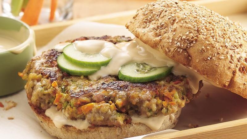 Teriyaki Veggie-Pork Burgers