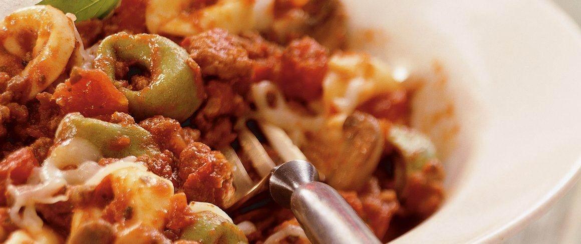 Slow-Cooker Cheesy Italian Tortellini recipe from Betty Crocker