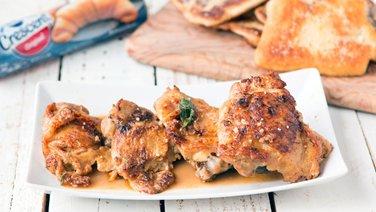Lemon-Basil Butter Chicken Skillet
