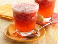 Sparkling Strawberry-Lemonade Slush