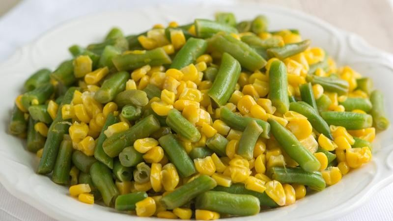 Green Beans and Corn with Lime Butter