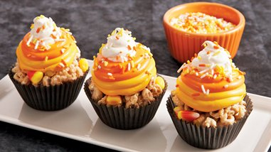 No-Bake Candy Corn Cereal Treats