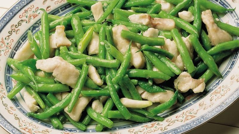 Sea Bass with Green Beans