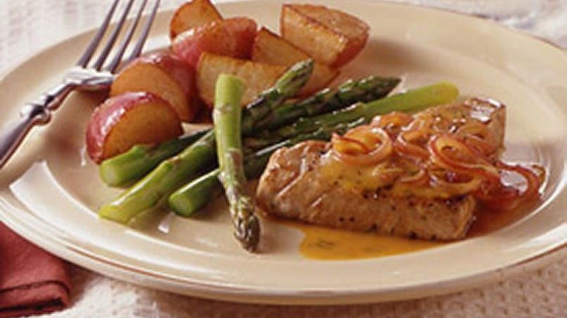 Orange and Dill Pan-Seared Tuna