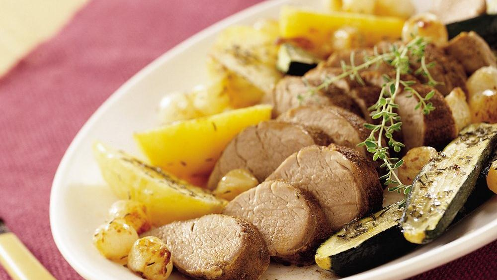 Pork Tenderloin with Vegetables