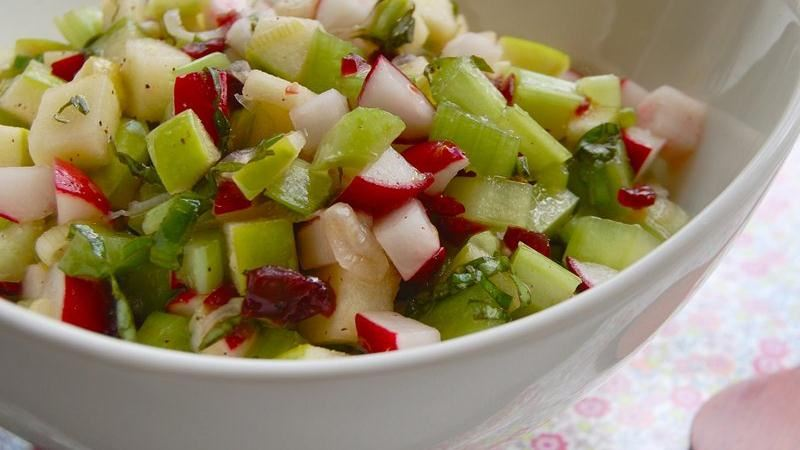 Apple, Radish and Celery Salsa