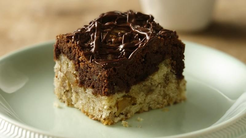 Chocolate Marbled Banana Nut Bars