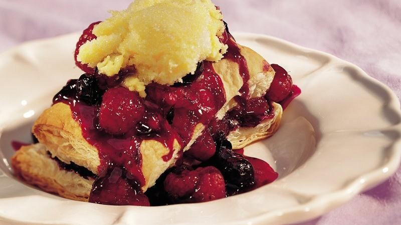 Raspberry-Blueberry Shortcakes