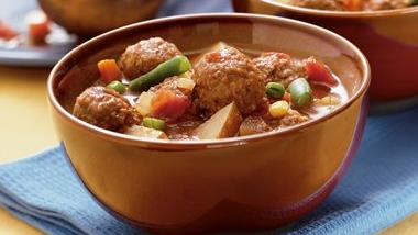 Slow-Cooker Meatball Stone Soup