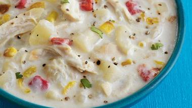 Roasted Corn and Chicken Chowder