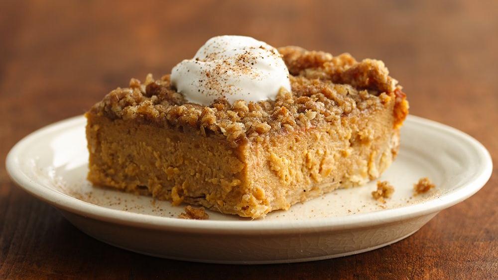 Streusel-Topped Sweet Potato Pie Squares recipe from Pillsbury.com