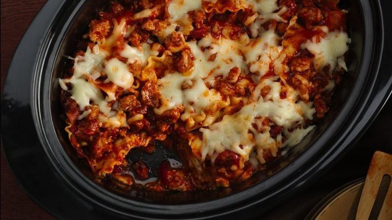 Super Easy Slow-Cooker Lasagna