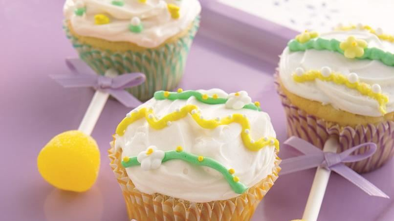 Baby Shower Cupcakes Recipes ~ Baby rattle cupcakes recipe from betty crocker
