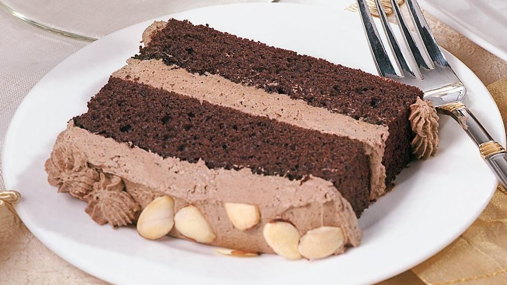 Chocolate Almond Mousse Cake