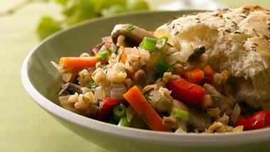 Toasted Barley with Mixed Vegetables