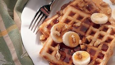 Banana-Nut Waffles