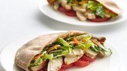 Skinny Chicken Caesar Pitas