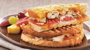 Smoky Chicken Melt Paninis