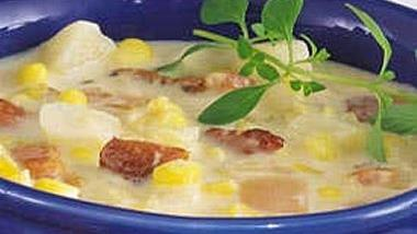 Slow-Cooker Potato and Double-Corn Chowder