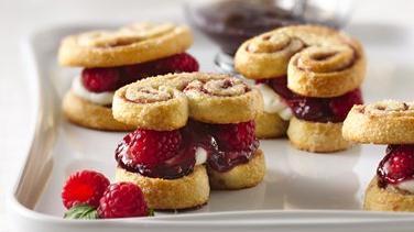 Raspberry Palmier Shortcakes