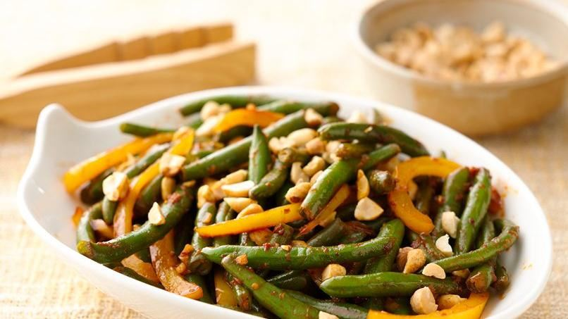 Spicy Asian Garlic Green Beans | QueRicaVida