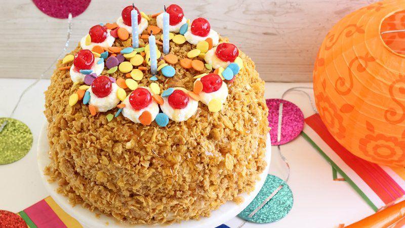 Dulce de Leche Fried Ice Cream Cake