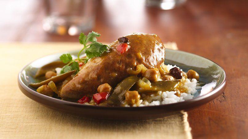 Slow-Cooker Mango Chutney Chicken Curry