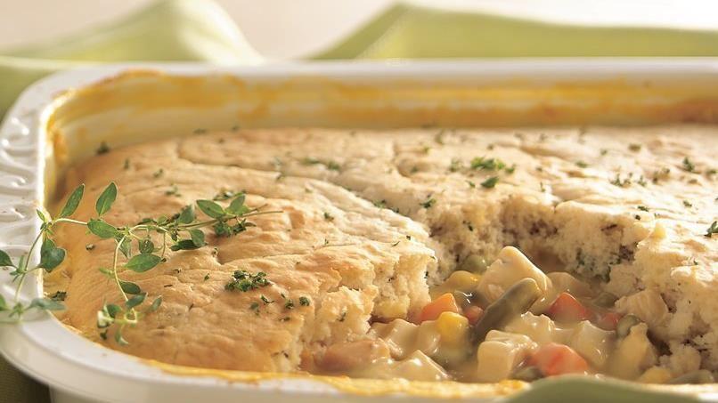 Chicken Pot Pie with Herb Crust