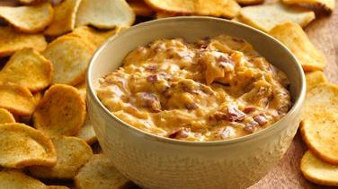 Reuben Dip with Baguette Chips