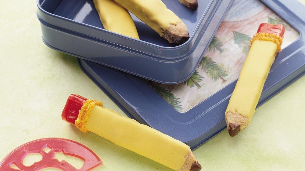 School Days Pencil Cookies