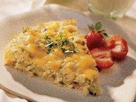 Cheesy Egg and Rice Bake
