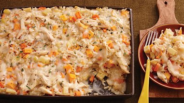 Chicken and Veggie Risotto Bake