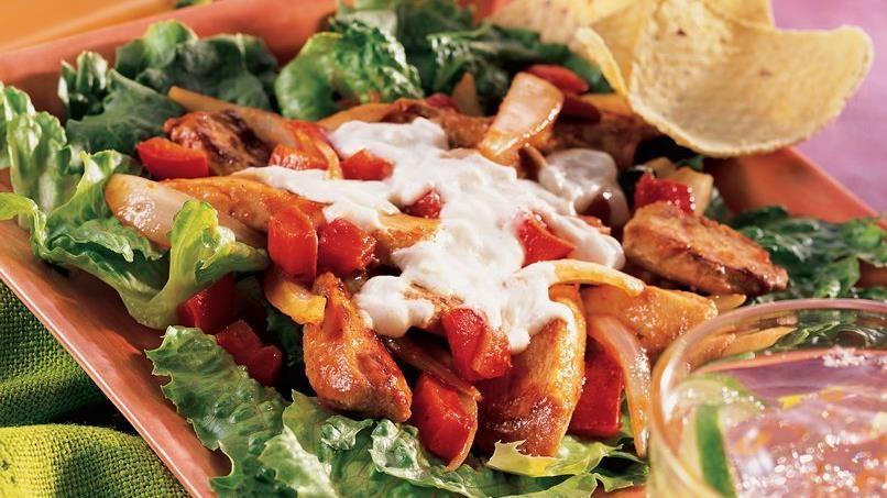 Sizzling Hot Fajita Salad