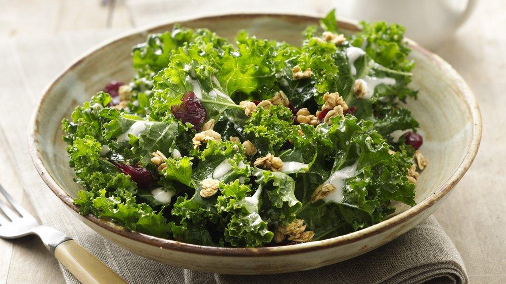 Crunchy Kale Salad with Yogurt Vinaigrette
