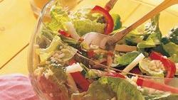 Turkey, Rice and Romaine Salad