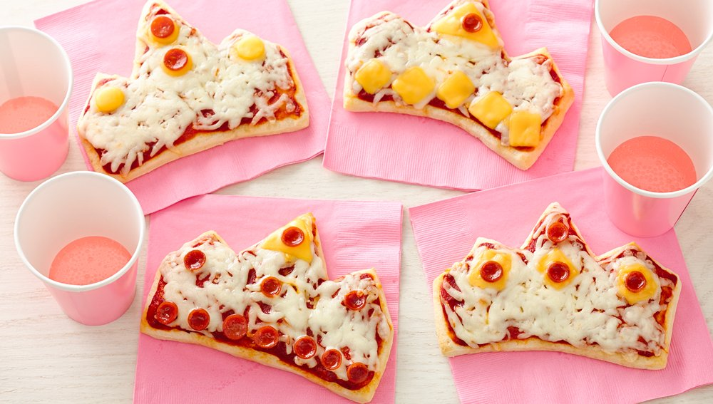 Tiara-Shaped Pizzas