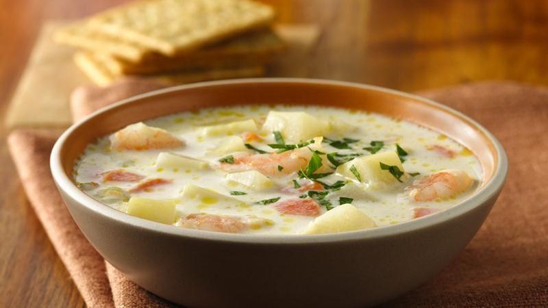 Fresh Potato Soup with Shrimp