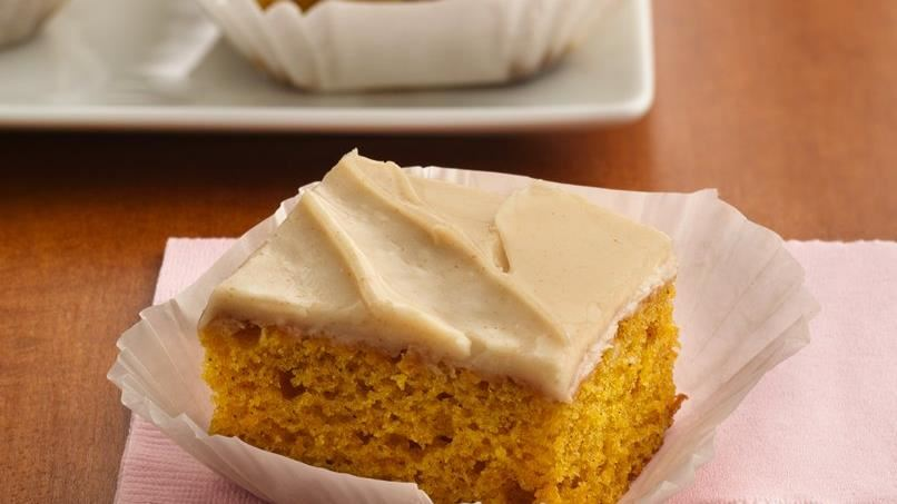 Orange-Spice Pumpkin Bars with Browned Butter Frosting