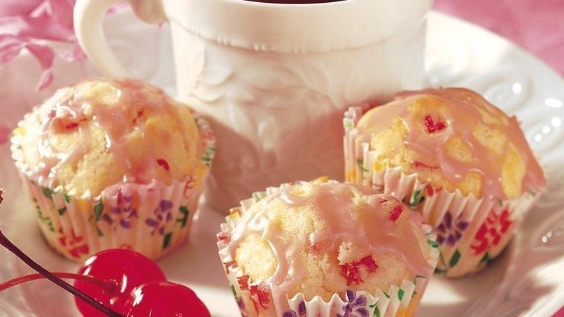 Mini Maraschino Cherry Muffins