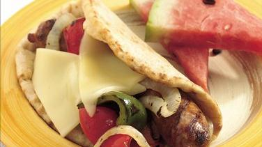 Grilled Italian Sausage and Bell Pepper Folds