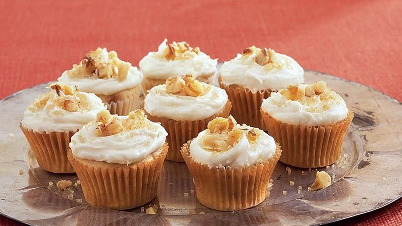 Maple-Walnut Mini Cupcakes