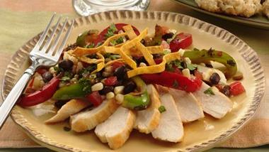 Chicken with Black Bean and Corn Salsa
