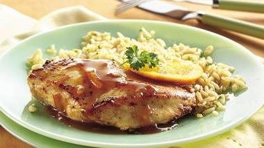 Chicken Breasts with Orange Glaze