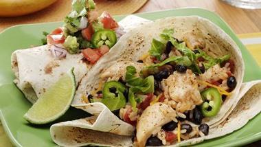 Speedy Chicken & Black Bean Burritos