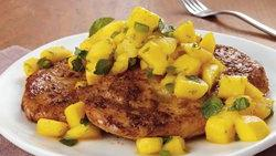 Chicken Topped with Mango Salsa